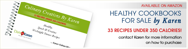Healthy cookbooks by karen for sale